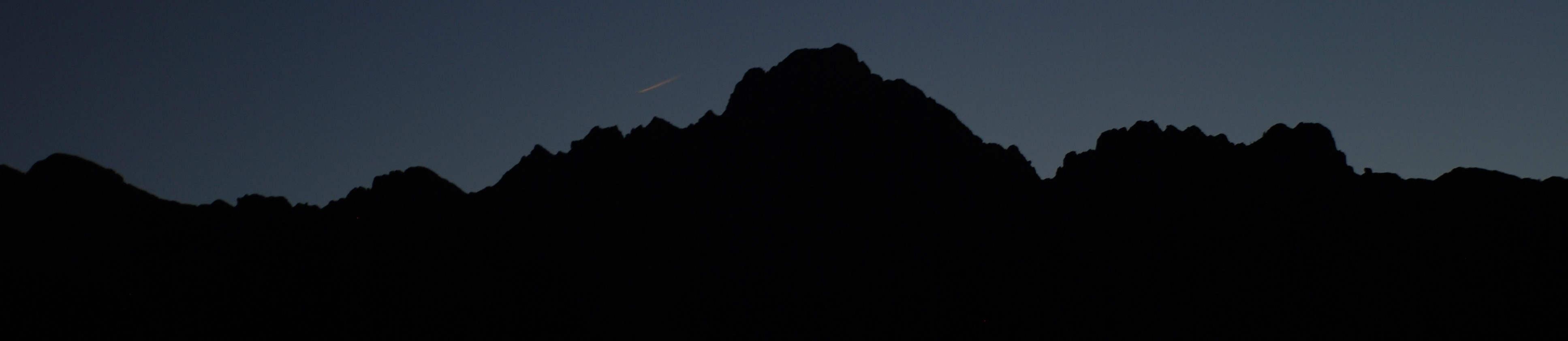 Chiarescon notturno e la meteora